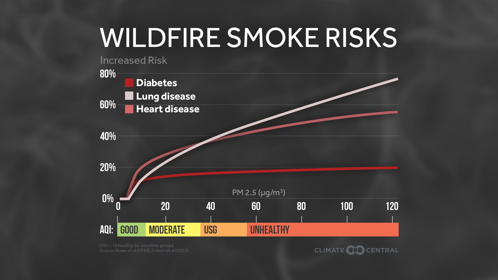 wildfire smoke - curves